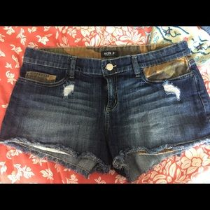 Camouflage jeans shorts size 12